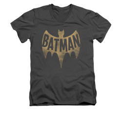 Image Closeup for Batman Classic TV V Neck T-Shirt - Vintage Logo