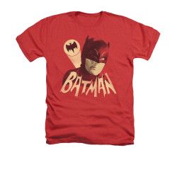 Image Closeup for Batman Classic TV Heather T-Shirt - Bat Signal