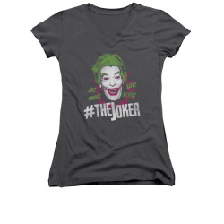 Image Closeup for Batman Classic TV Girls V Neck - #joker