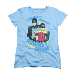 Image Closeup for Batman Classic TV Womans T-Shirt - Courageous Warriors