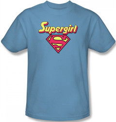 Image Closeup for Supergirl Logo T-Shirt
