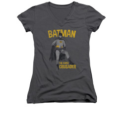 Image Closeup for Batman Classic TV Girls V Neck - Caped Crusader