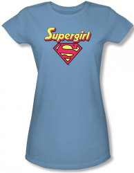 Image for Supergirl Logo Girls Shirt