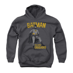 Image Closeup for Batman Classic TV Youth Hoodie - Caped Crusader