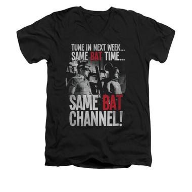 Image for Batman Classic TV V Neck T-Shirt - Bat Channel