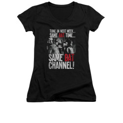 Image Closeup for Batman Classic TV Girls V Neck - Bat Channel