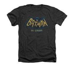 Image Closeup for Batman Classic TV Heather T-Shirt - In Color