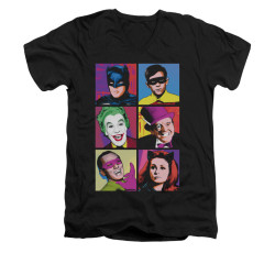 Image for Batman Classic TV V Neck T-Shirt - Pop Cast