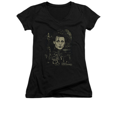 Image for Edward Scissorhands Girls V Neck - Edward