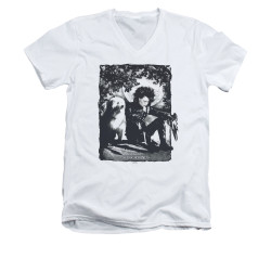 Image for Edward Scissorhands V Neck T-Shirt - Lucky Dog