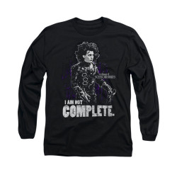 Image for Edward Scissorhands Long Sleeve Shirt - Not Complete