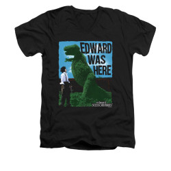 Image for Edward Scissorhands V Neck T-Shirt - Edward Was Here