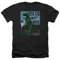 Image for Edward Scissorhands Heather T-Shirt - Edward Was Here