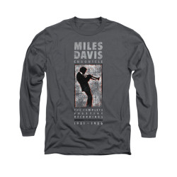 Image for Miles Davis Long Sleeve Shirt - Miles Silhouette