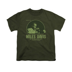 Image for Miles Davis Youth T-Shirt - The Green Miles