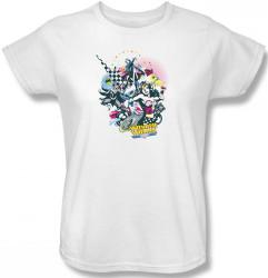 Image for Superheroes Womens T-Shirt - Power Trio