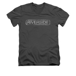 Image for Riverside Records V Neck T-Shirt - Distressed
