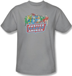 Image for JLA Lineup T-Shirt