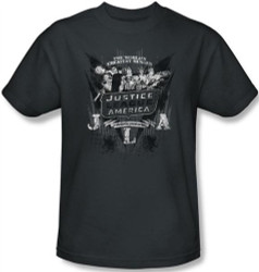 Image Closeup for JLA The World's Greatest Heroes T-Shirt