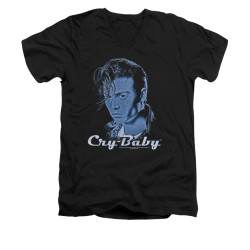 Image for Cry Baby V Neck T-Shirt - King Cry Baby