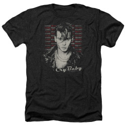 Image for Cry Baby Heather T-Shirt - Drapes & Squares