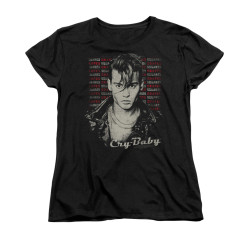 Image for Cry Baby Womans T-Shirt - Drapes & Squares