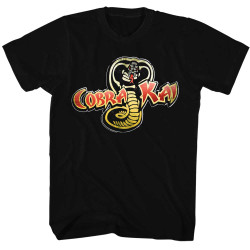 Image for Karate Kid T Shirt - Cobra Kai Snake Logo