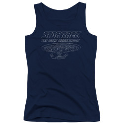 Image for Star Trek Girls Tank Top - TNG Enterprise