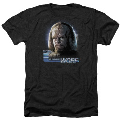 Image for Star Trek Heather T-Shirt - TNG Worf
