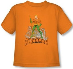 Image for Aquaman Distressed Toddler T-Shirt