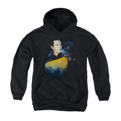 Image for Star Trek the Next Generation Youth Hoodie - Data 25th