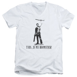 Image for Army Of Darkness V Neck T-Shirt - Boomstick!