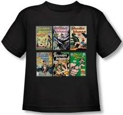 Image for Wonder Woman Covers Toddler T-Shirt