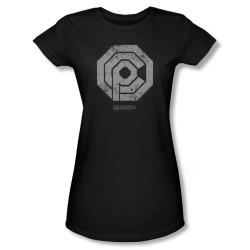 Image for Robocop Girls T-Shirt - Distressed Ocp Logo