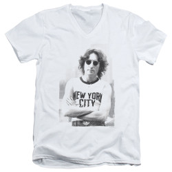 Image for John Lennon V Neck T-Shirt - New York