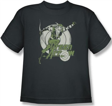 Image for Green Arrow Right on Target Youth T-Shirt