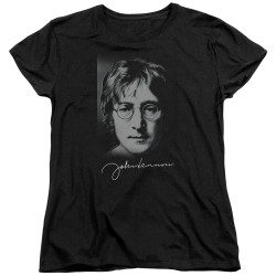 Image for John Lennon Womans T-Shirt - Sketch