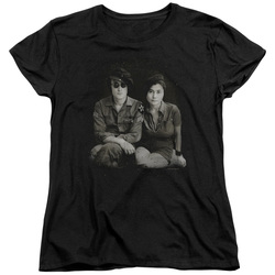 Image for John Lennon Womans T-Shirt - Beret