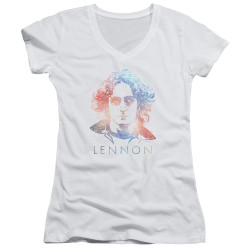 Image for John Lennon Girls V Neck - Colorful