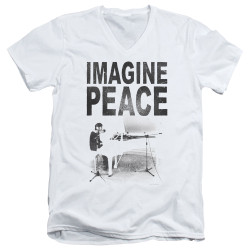 Image for John Lennon V Neck T-Shirt - Imagine