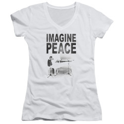 Image for John Lennon Girls V Neck - Imagine