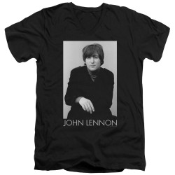 Image for John Lennon V Neck T-Shirt - Ex Beatle