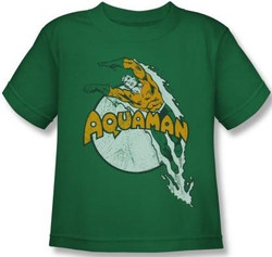 Image for Aquaman Splash Dive Kid's T-Shirt