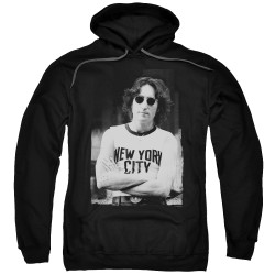 Image for John Lennon Hoodie - New York on black