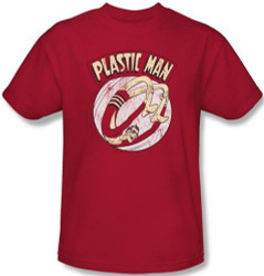 Image Closeup for Plastic Man Bounce T-Shirt