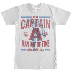 Image for Captain America Text Overlay T-Shirt