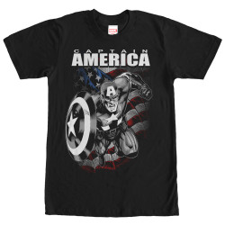 Image for Captain America Flag Charge T-Shirt