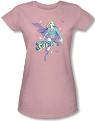 Image for Supergirl Pastels Girls Shirt