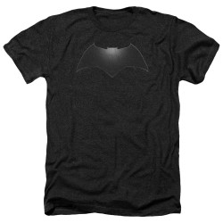 Image for Batman v Superman Heather T-Shirt - Beveled Bat Logo