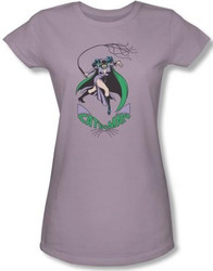 Image for Catwoman Girls T-Shirt - Kitty With a Whip